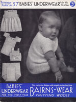 Baby Knitted Underwear Vintage Knitting Pattern