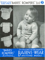 Baby Knitted Romper Vintage Knitting Pattern