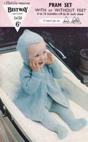 Baby Knitted Pram Suit Vintage Knitting Pattern