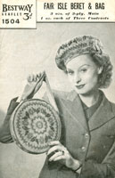 Ladies Knitted Bag Vintage Knitting Pattern