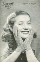 Ladies Knitted Gloves Vintage Knitting Pattern