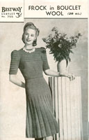 Ladies Knitted Dress Vintage Knitting Pattern