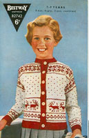 Childrens Fair Isle Vintage Knitting Pattern