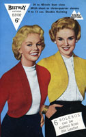 Ladies Knitted Bolero Vintage Knitting Pattern