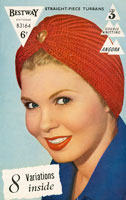 Ladies Knitted Hat Vintage Knitting Pattern