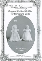 Knitted Clothes for Dolls House Dolls