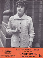 Ladies Knitted Aran Vintage Knitting Pattern
