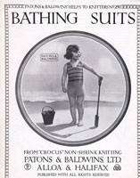 Childrens Knitted Swimwear Vintage Knitting Pattern