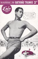 Mens Knitted Swimwear Vintage Knitting Patterns