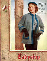 Ladies Knitted Jacket Vintage Knitting Pattern