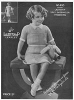 Girls Knitted Dress Vintage Knitting Pattern