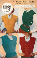 Ladies Knitted Waistcoat Vintage Knitting Pattern