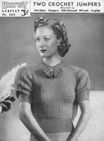 vintage Bestway crochet pattern ladies jumper