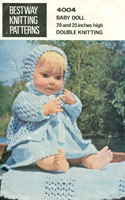 vintage hand knitting patterns for dolls