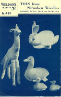 vintage toy pattern for sewing felted toys