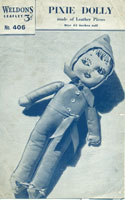 vintage sewing pattern for toy doll