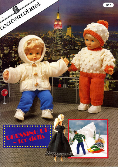 Free Knitting Patterns For Action Man Dolls : Modern knitted dolls clothes patterns available from The Vintage Knitting Lady