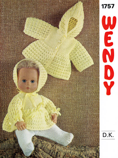 Wendy Knitting Patterns For Dolls : Vintage knitted dolls clothes patterns available from The ...