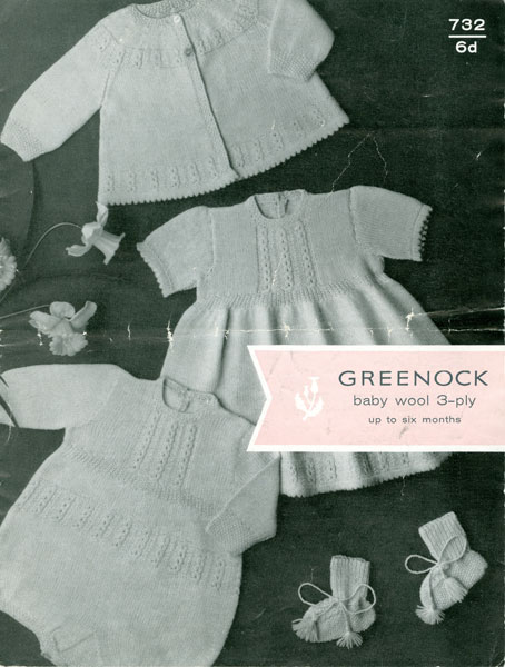 Vintage Knitting Baby Patterns : Vintage Baby Dresses Knitting Patterns from The Vintage Knitting Lady