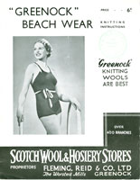 vintage ladies beachwear knitting pattern