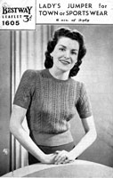 Vintage Ladies knitting patterns from the Retro Knitting Company