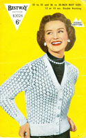 vintage ladies cardigan knitting pattern