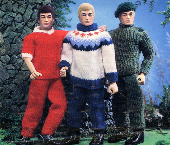 Free Knitting Patterns For Action Man Dolls : Action Man and Barbie Vintage Knitting Patterns from The Vintage Knitting Lady