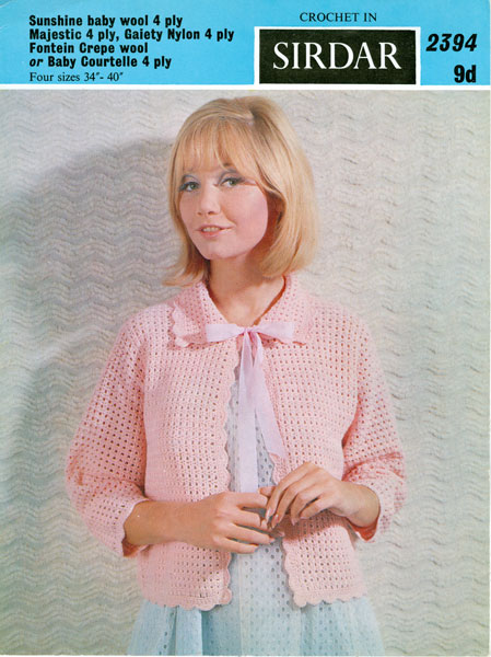 Vintage Bed Jacket And Bedwear Knitting Patterns From The