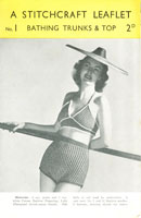 vintage ladies beach outfit