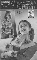 Bestway knitting pattern 101 1940s booklet jumper and accessories 1940s knitting pattern