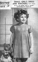 bestway dress knitting pattern from 1940s