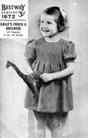 vintage girls dress knitting pattern from 1940s knitting patterns
