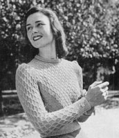 vintage ladies jumper knitting pattern from 1944