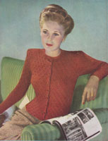 vintage ladies cardigan knitting pattern 1945