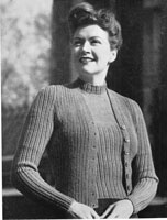 vintage ladies knitting pattern 1945
