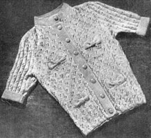 ladies cardigan knitting pattern from 1946