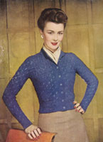 vintage ladies cardigan knitting pattrn from 1946