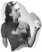 ladies cardigan jumper knitting pattern from 1946