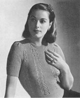 vintage ladies knitting pattern from 1946 for summer jumper