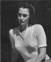 vintage ladies summer polo top knitting pattern from 1946