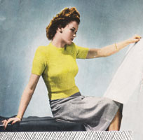 vintage ladies usmmer jumper knitting pattern from 1946