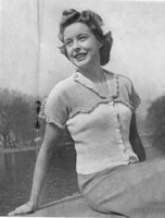 vintage ladies summer jumper kniting pattern from 1946