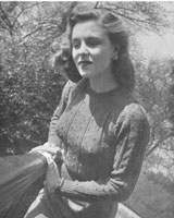 vintage ladies knitting pattern from 1946for jumper