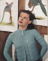 vintage ladies knitting pattern from 1947 for twinset