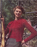 ladies twin set knitting pattern from 1947