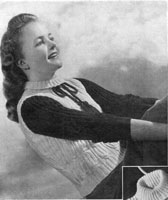 vintage knitting pattern for ladies 1947