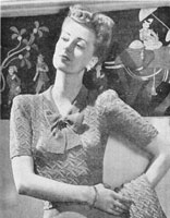 ladies jumper knitting pattern 1947