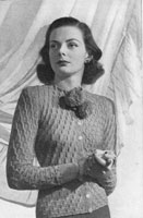 ladies vintage knitting pattern for cardigan