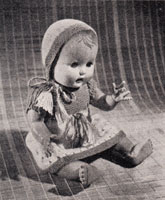 vintage doll knitting pattern to fit 15 inch doll