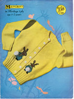 vintage childrens cardigan knitting patterns